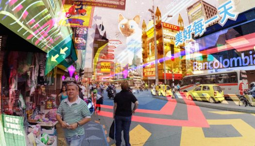 Theme park guests anticipating VR attractions