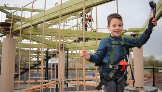 Puxton Park adds ropes course with unique UK elements