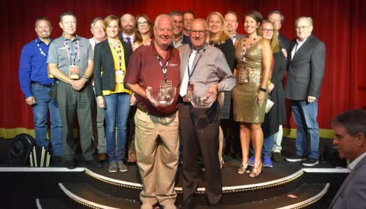 AIMS International presents two safety awards during annual Golden Ticket Awards