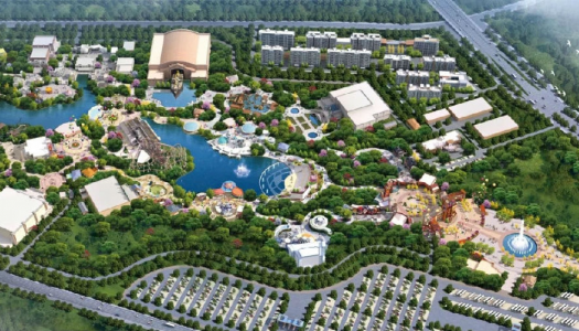 Construction of Jingzhou Fantawild 'Oriental Dawn' theme park begins