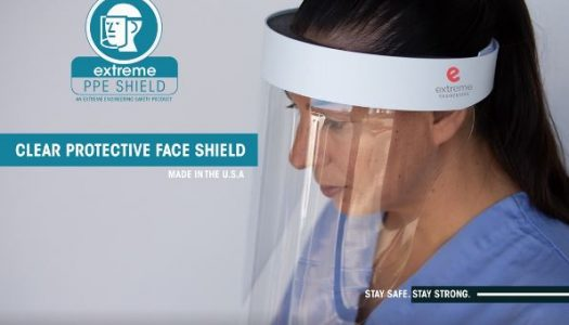 Extreme Engineering supports fight against COVID-19 by providing PPE face shields