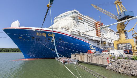 Mardi Gras under construction at Meyer Turku Shipyard, Finland