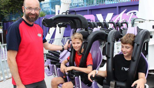 MP James Duddridge raises money for homeless charity working a shift at Adventure Island