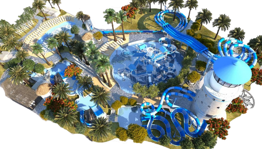 Construction well underway of WhiteWater's Jungle Bay waterpark, Dubai
