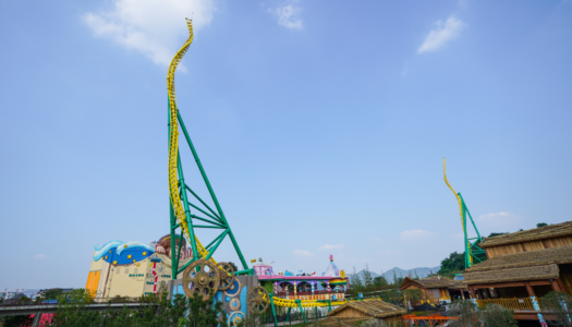 World's highest and fastest doubled twisted impulse coaster opens at Sunac Land, China