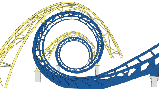 Ride to Happiness by Tomorrowland roller coaster previews at Plopsaland De Panne