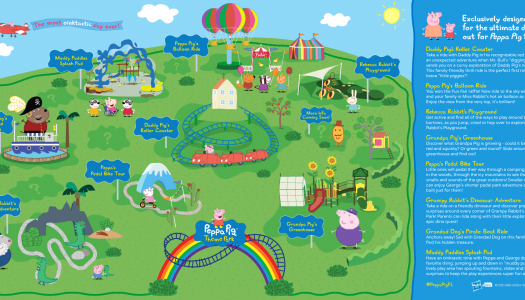 Rides and attractions revealed for world's first standalone Peppa Pig theme park